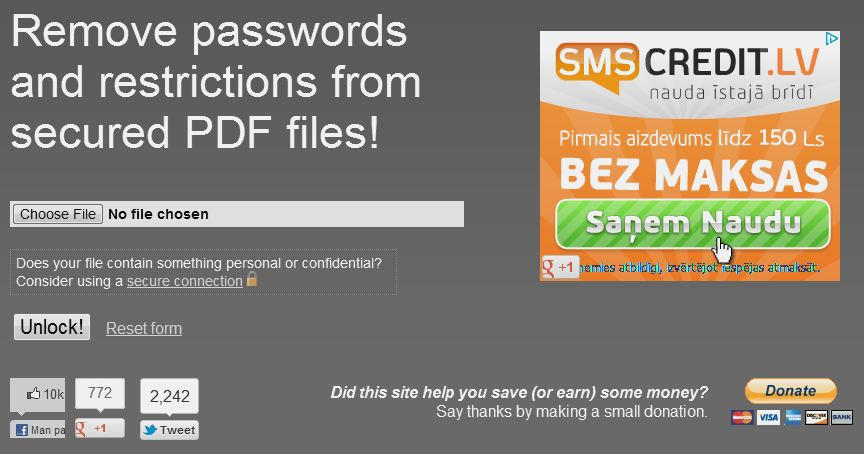 Kā noņemt paroli no PDF dokumenta?