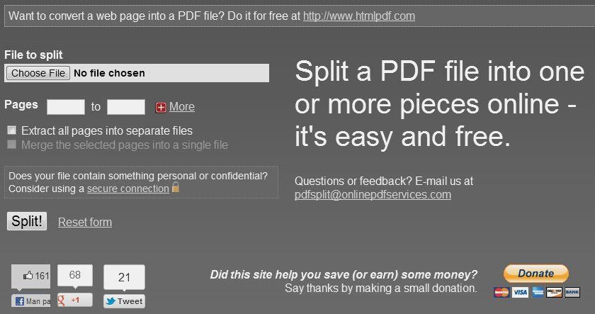 Kā sadalīt PDF failu mazākos failos?