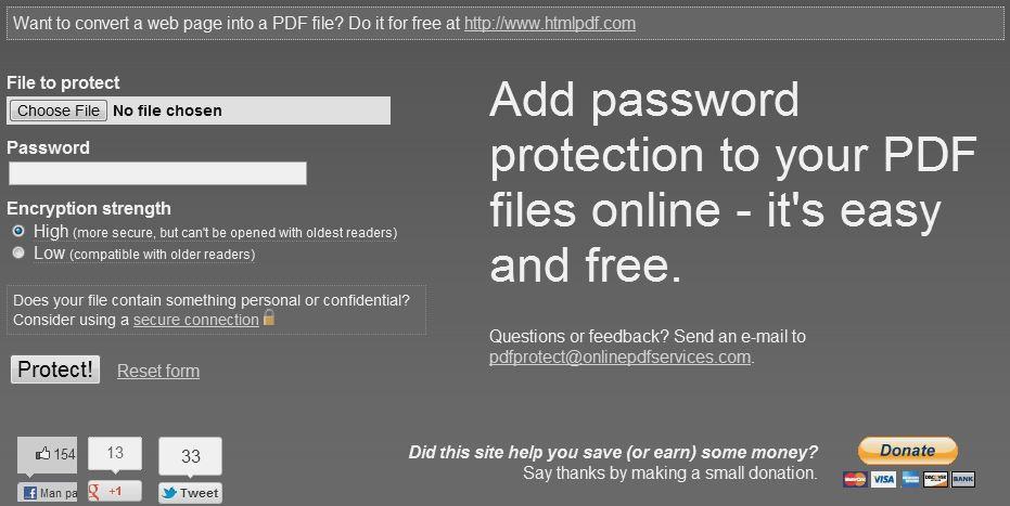 Paroles piešķiršana PDF dokumentam